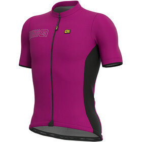 Alé Cycling Solid Color Block Fietsshirt korte mouwen Heren violet/zwart